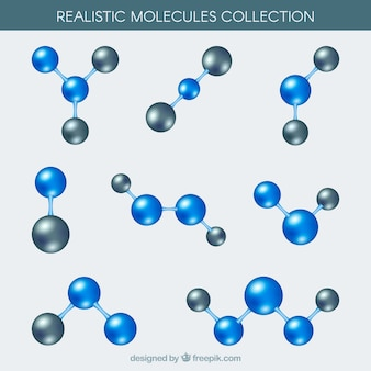 Realistic pack of molecules