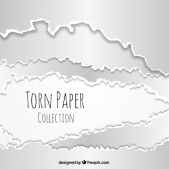 Realistic pack of torn paper