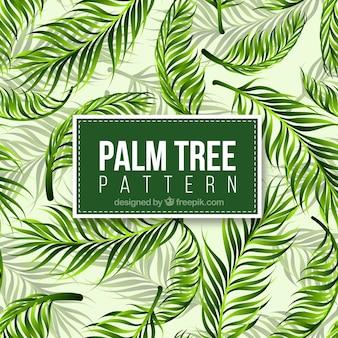 Realistic palm tree pattern