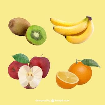 Realistic polygonal fruits