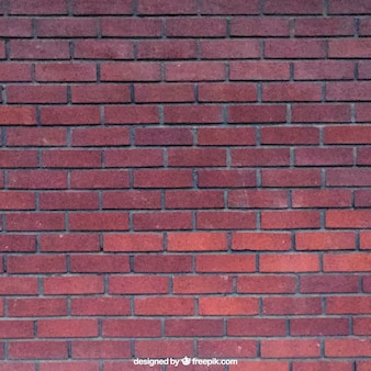 Realistic red bricks texture