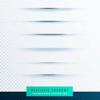 透明な背景に紙の紙の線の影の効果