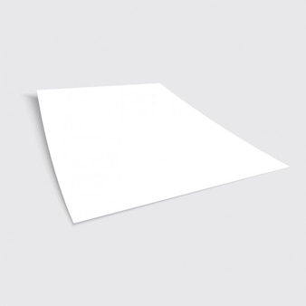 Realistic sheet of paper presentation