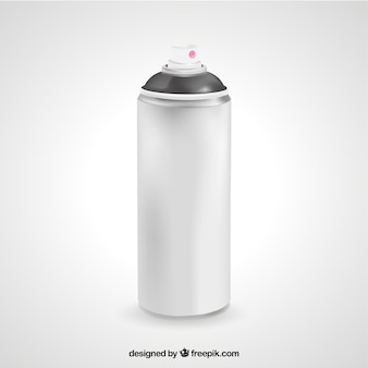 Realistic spray can