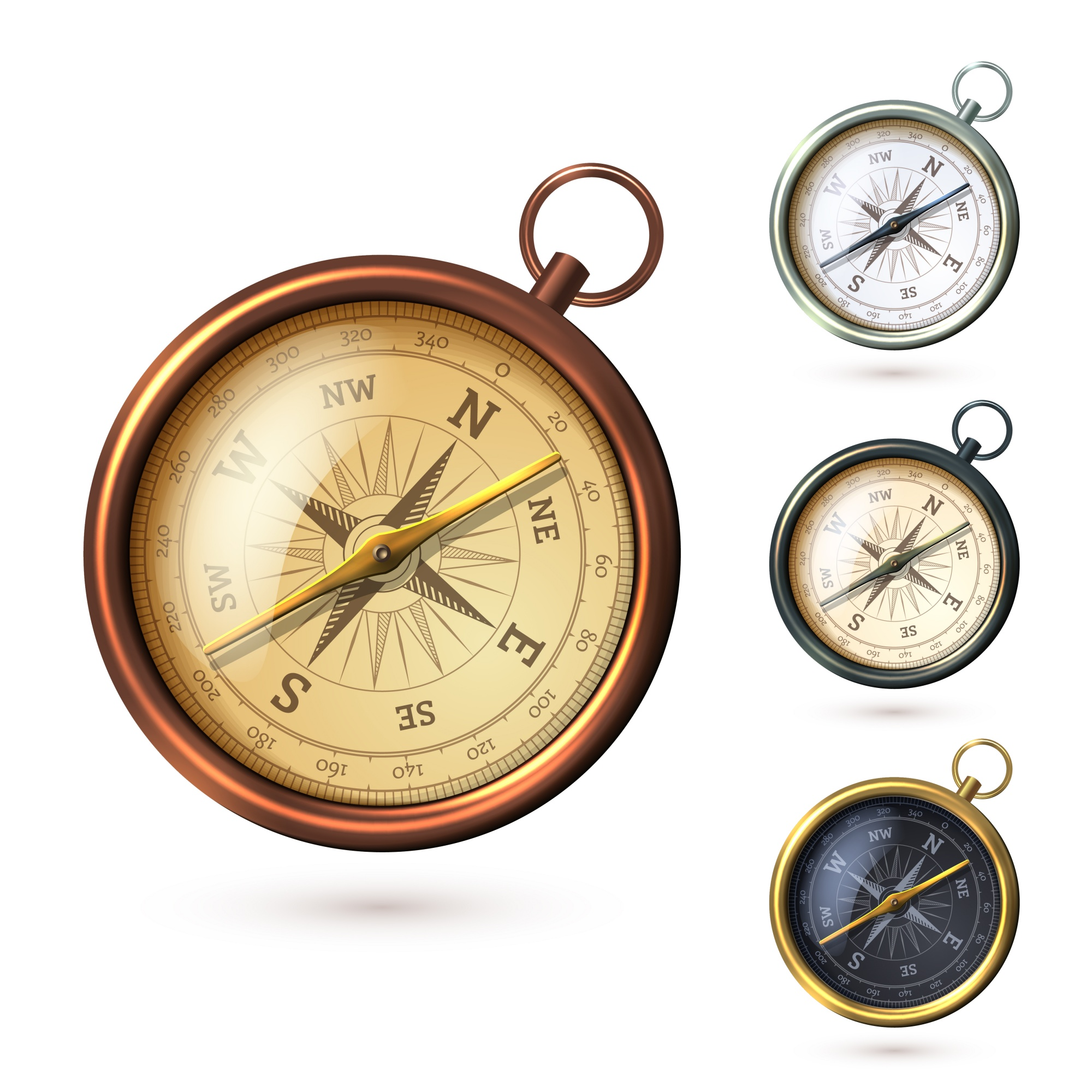 Realistic style compass