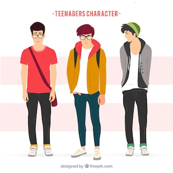Realistic teenagers characters