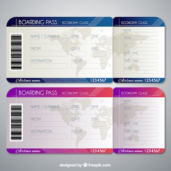 Realistic templates of boarding passes