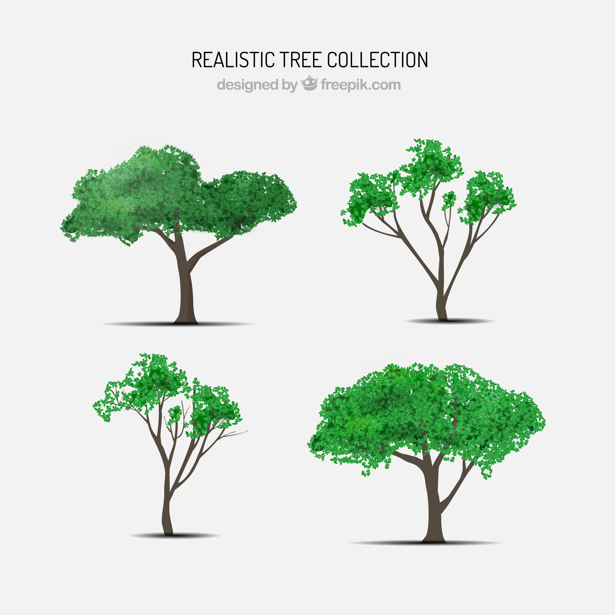 Realistic tree pack