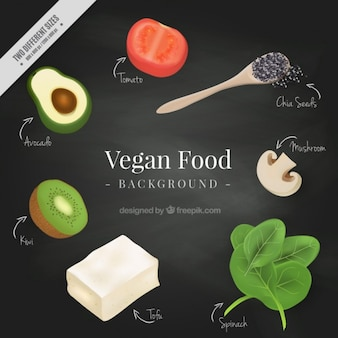 Realistic vegan food background