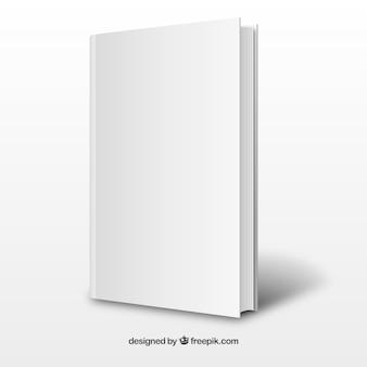 Realistic white book template