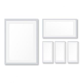 Realistic white frames