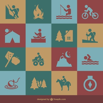 Recreational activities icons