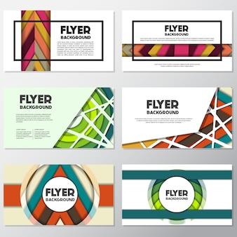 Rectangle flyer design