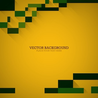 Rectangle on yellow background