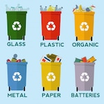 Recycling bins collection