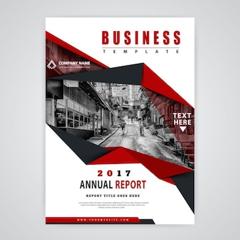 Red abstract annual report 2017