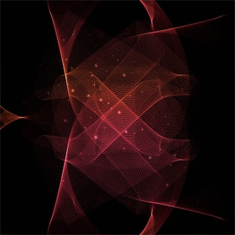 Red and black background with wavy shapes