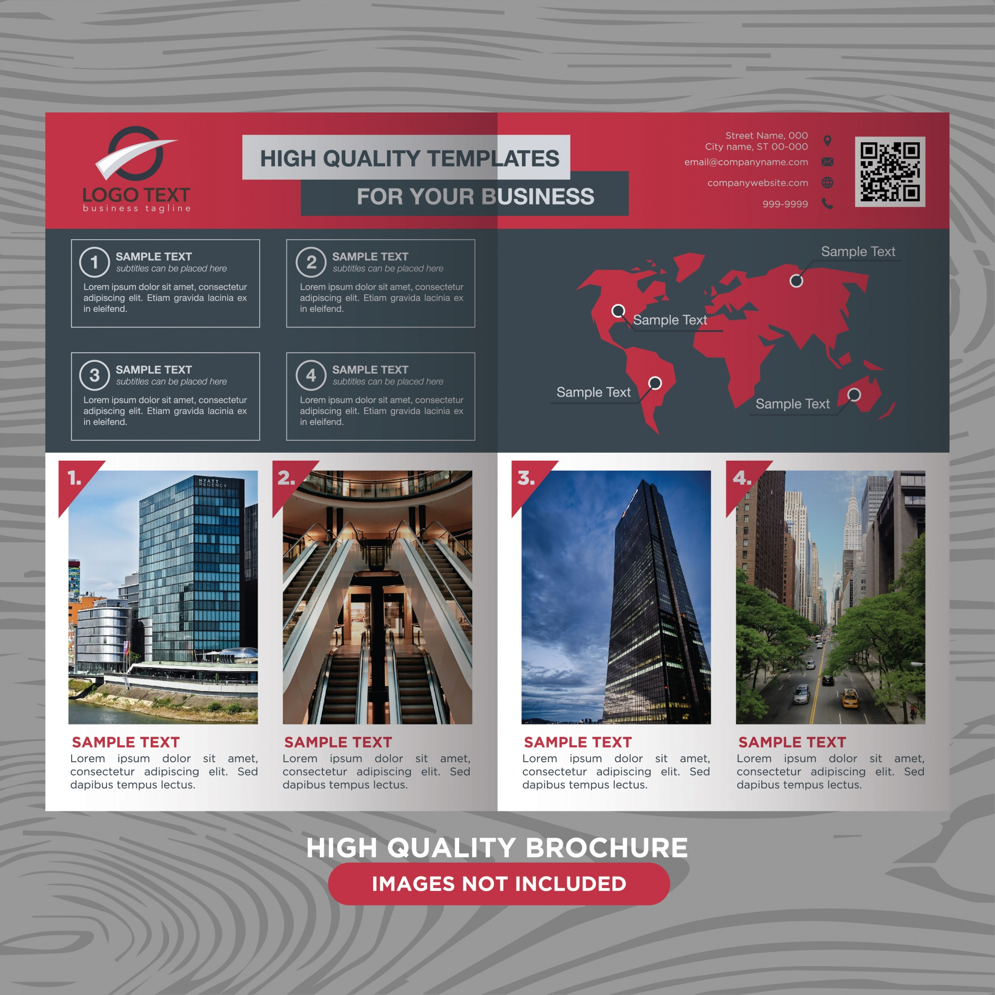 Red and black business brochure