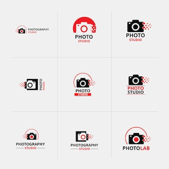 Red and black icons for photographers