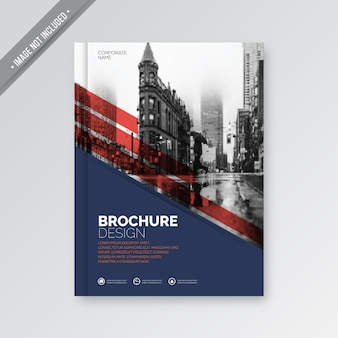 Red and blue business cover