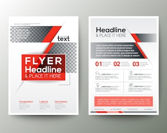 Red and grey business brochure design