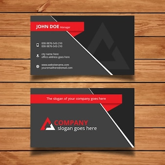 Red and grey modern business card template