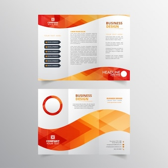 Red and orange flyer design