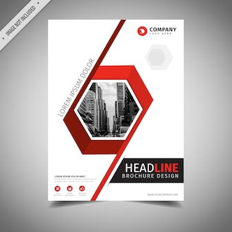 Red and white business brochure design