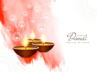Red and white diwali event design