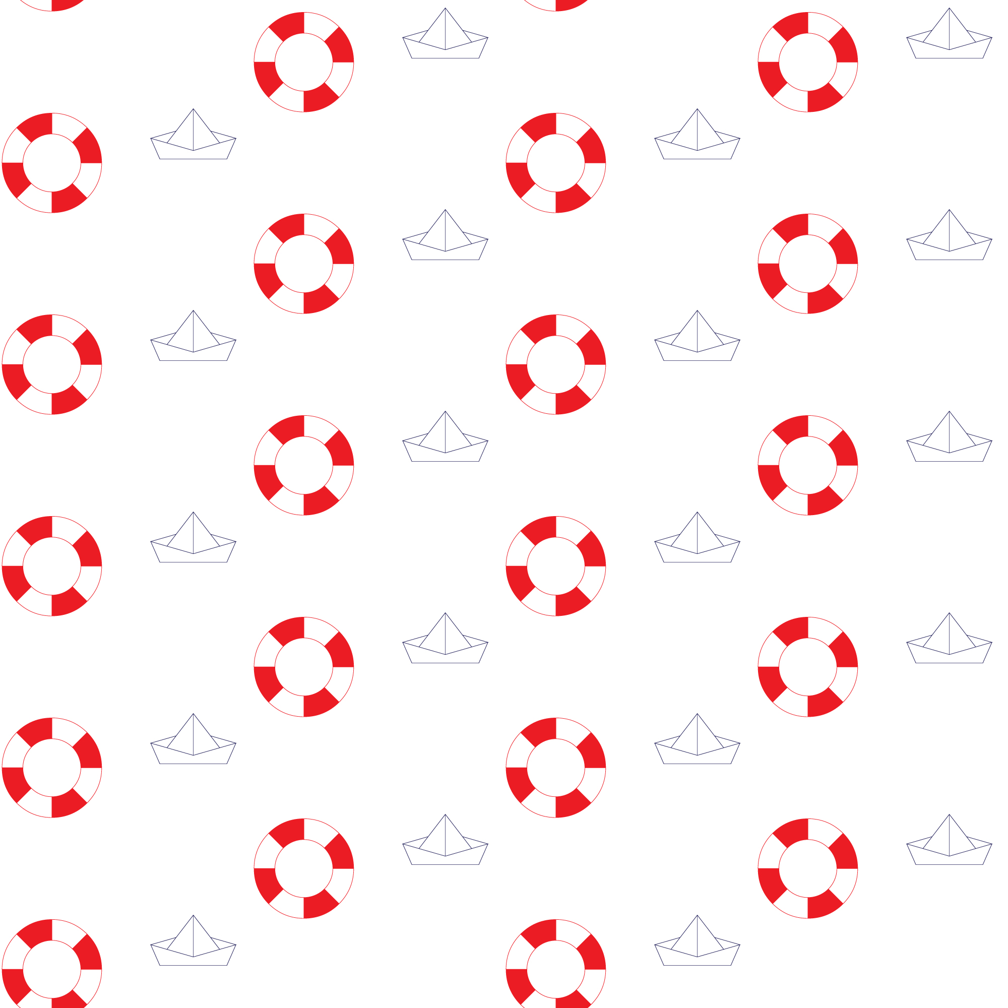 Red and white floats pattern background