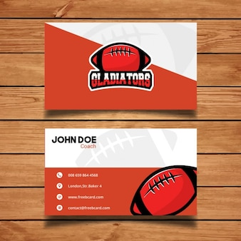 Red and white sports corporate card