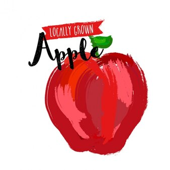 Red apple background