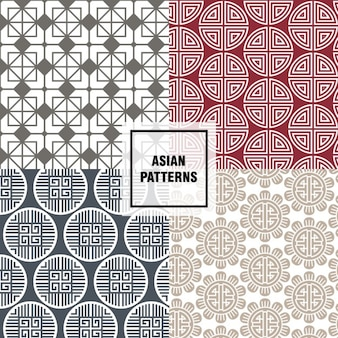 Red asian patterns