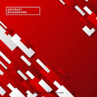 Red background of abstract shapes