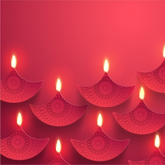 Red background with ornamental candles