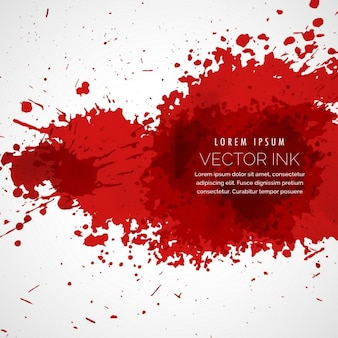 Red background with splatter