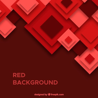 Red background with squares