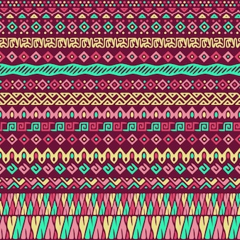 Red background with tribal pattern