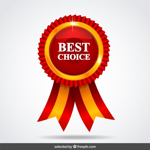Red best choice medal