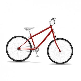 Red bike 3d