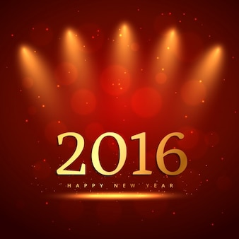 Red bokeh new year 2016 background