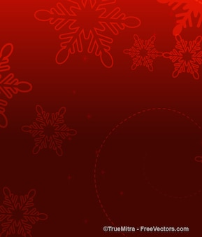 Red bokeh with snowflakes abstract background