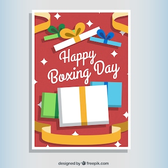 Red Boxing Day Card