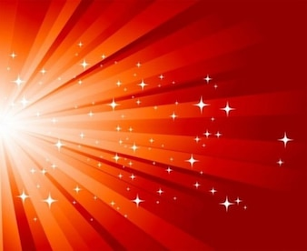 Red burst of light background