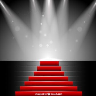 Red carpet under sportlight vector