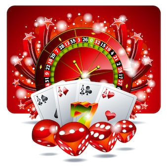 Red casino roullete background