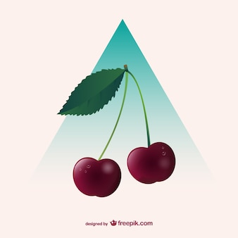Red cherries clip art