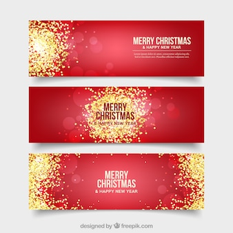 Red christmas banner collection