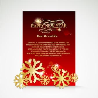 Red christmas brochure