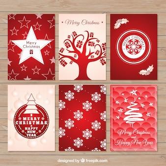 Коллекция Красная рождественская открытка